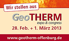 Messe GeoTHERM 2013 in Offenburg