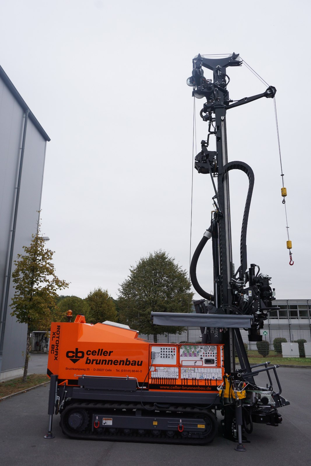 Geotec_Bohrtechnik_Drilling_Brunnenbau_Water_well_sinking_Rammkernbohrung_Percussion-core-drilling_Seilschlagwerk_Cable-striking-mechanism_Rotomax_XL_BC_01-DSC03125